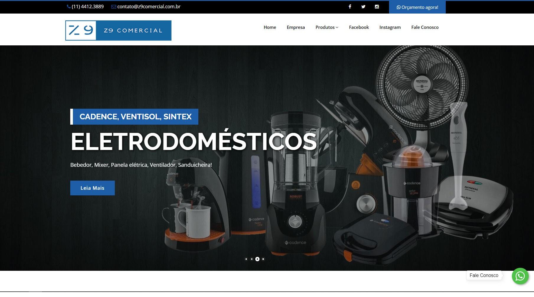 Novo Projeto Web no ar! Z9 Comercial