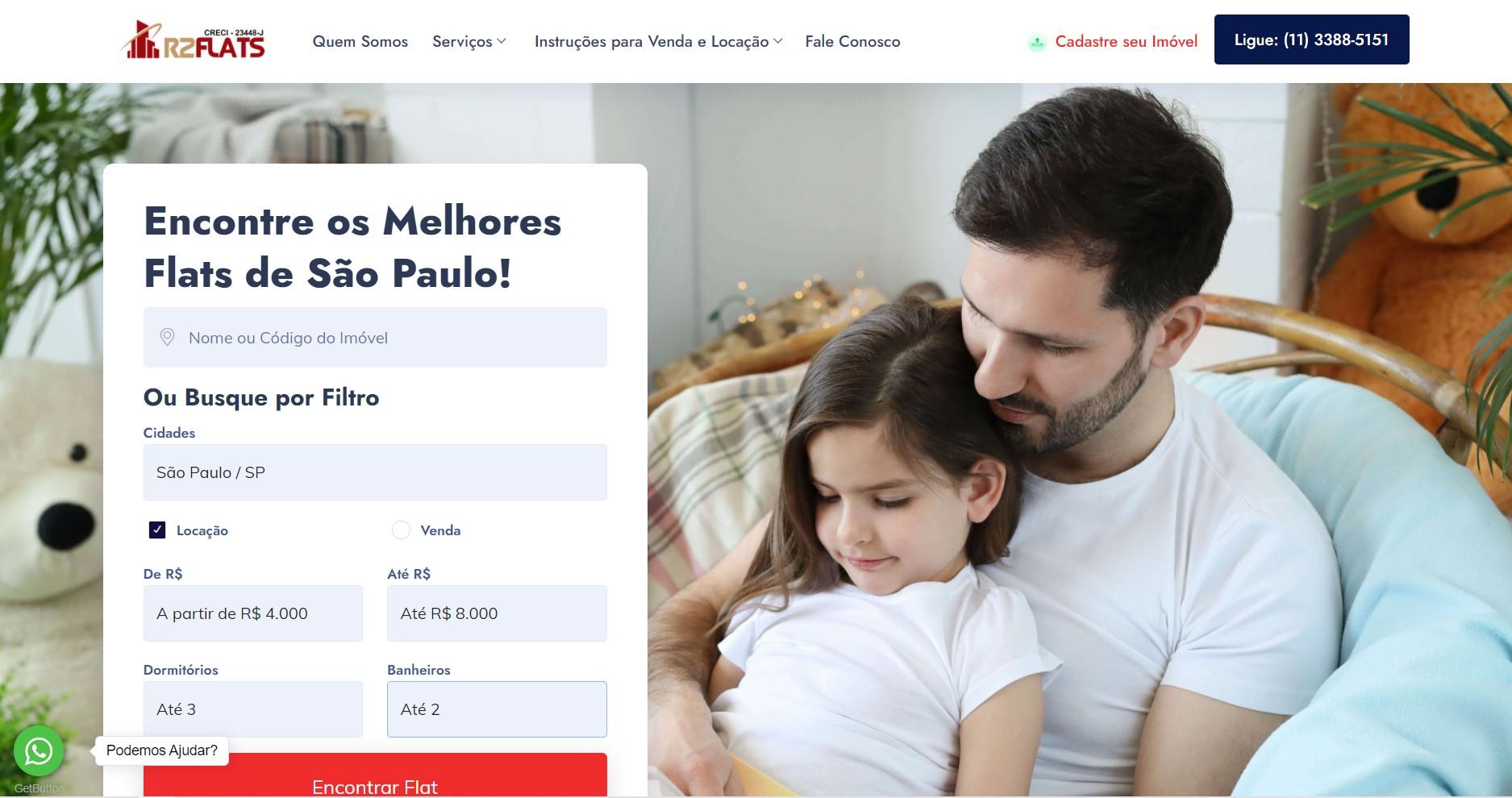 Novo Projeto Web no ar ! R2 Flats -  Site + CMS customizada
