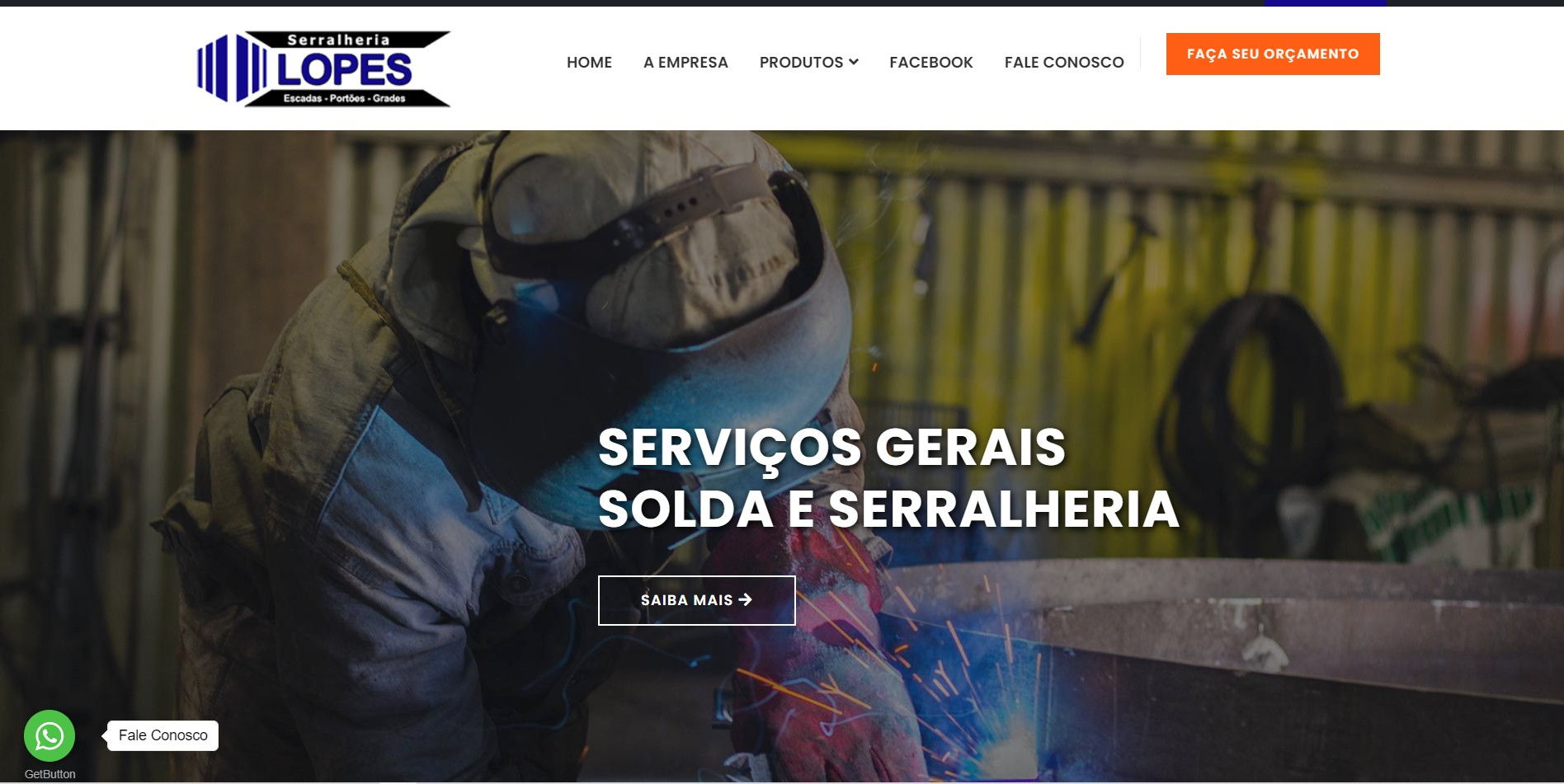 Novo projeto Web no ar ! Serralheria Lopes