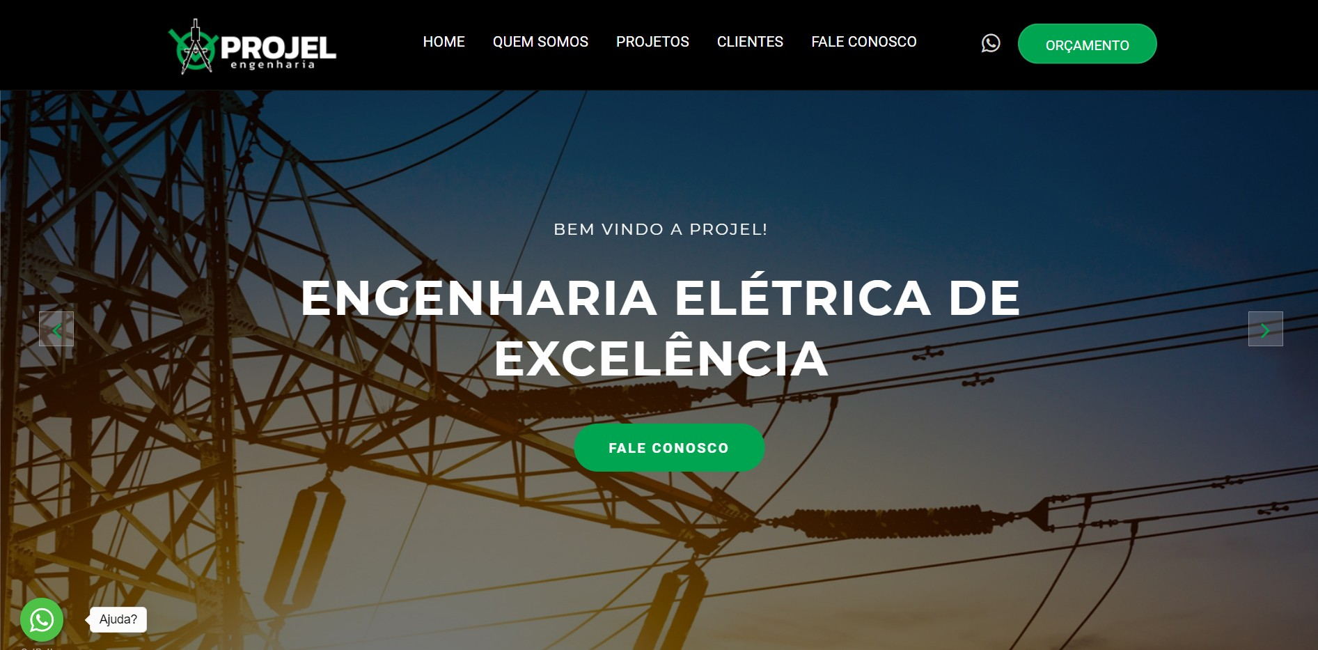 Novo Projeto Web no Ar! Projel Sistemas Elétricos