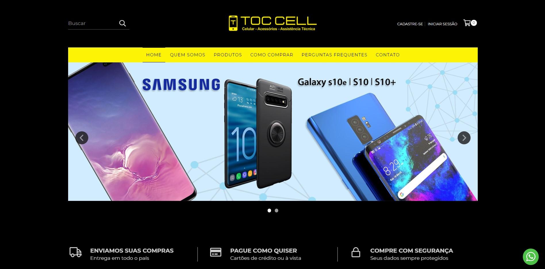 Nova Loja Virtual Chegando! Toc Cell Celulares