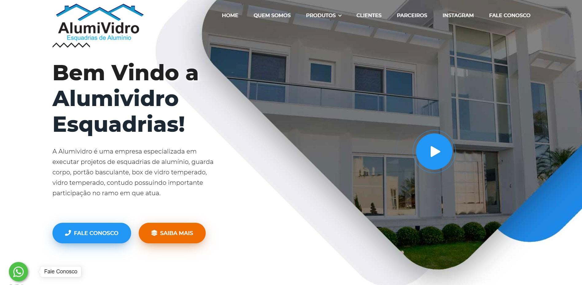 Novo Projeto Web Chegando! Alumividro Esquadrias de Alumínio
