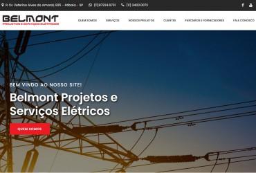 Novo Projeto Web no Ar! Belmont Projetos e Serviços Elétricos